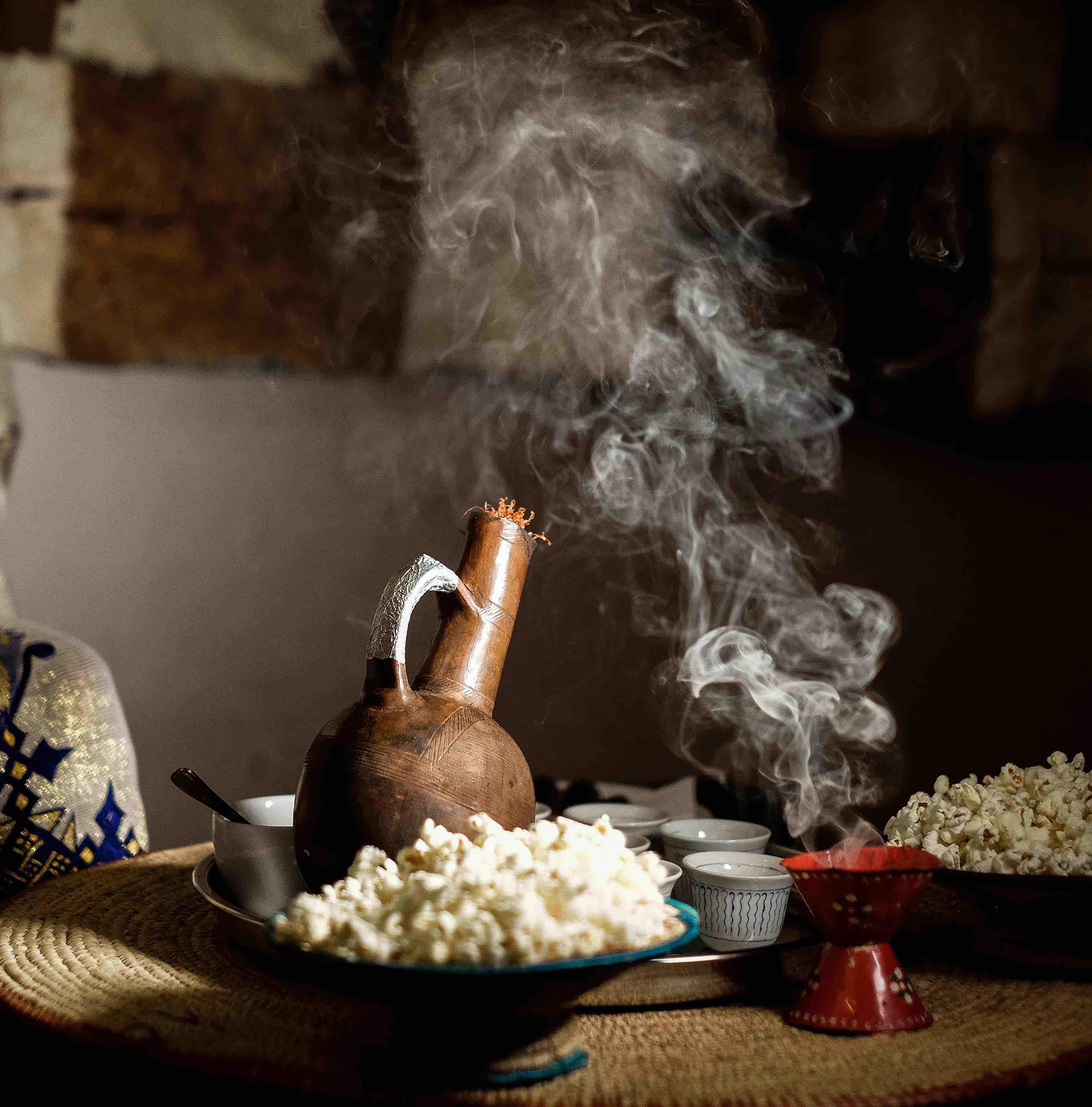 coffee, ethiopian, coffee ceremony, africa, coffee roasting